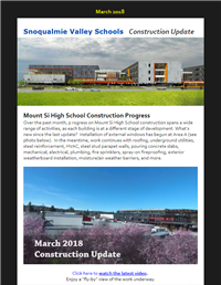 Construction Update - March 2018