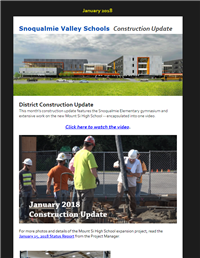 Construction Update - January 2018