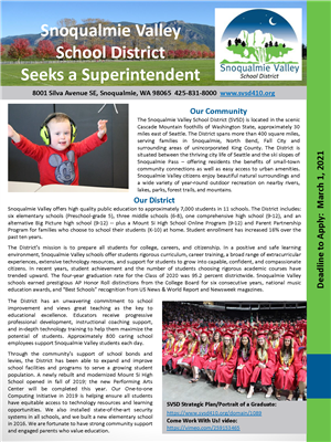 Superintendent Search Flyer