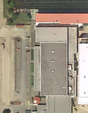 Aerial view of 3rd gym and wrestling room in old MSHS