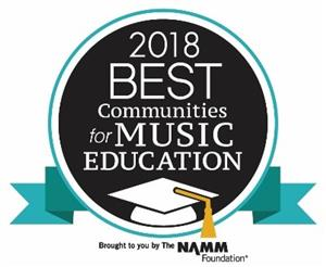 2018 Best Communities for Music Education - NAMM Foundation award
