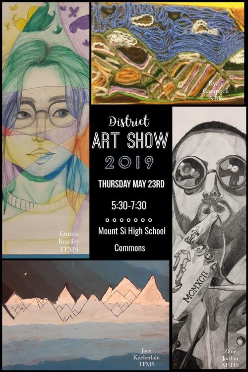 District Art Show flyer