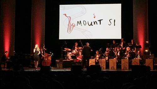 Mount Si Jazz band playing at Hot Java Cool Jazz 2018 concert