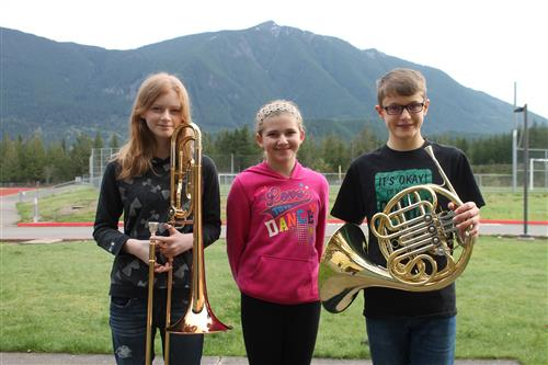 TFMS Junior All-state Band and Choir students