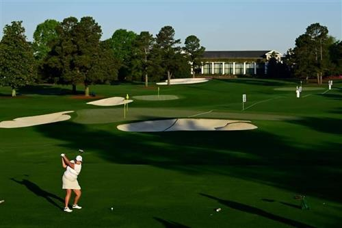 Kasey Maralack competing at Augusta National