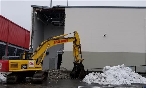 First demolition photos of MSHS Auxiliary Gym (1)