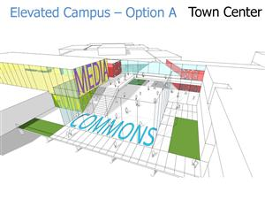"Commons to be designed as a student-centered ""Town Center"""