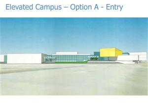 Front view of MSHS, as the concept design
