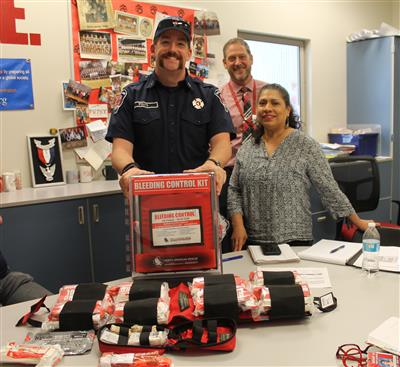 Fire Dept is help equip and train Mount Si High School on Stop the Bleed program
