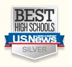US News and World Report Best High Schools List Silver medal logo
