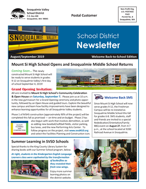 2019-20 Back to School Newsletter